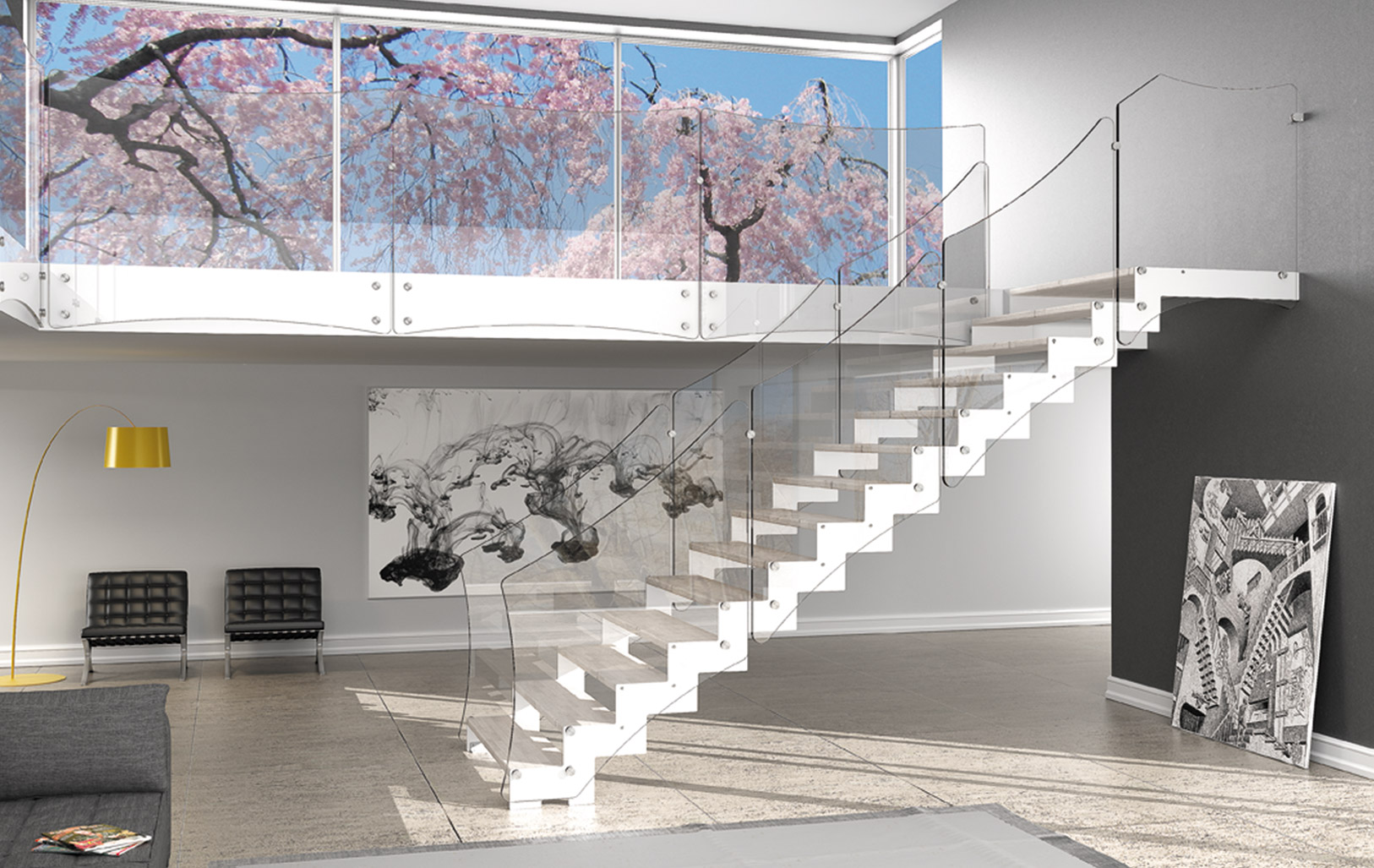 Scale interne battazzi falegnameria falegnameria - Ringhiere da interno moderne ...